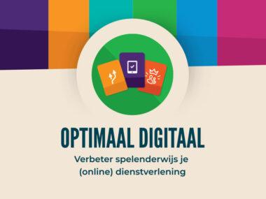 Logo Optimaal Digitaal met pay-off: verbeter spelenderwijs je (online) dienstverlening