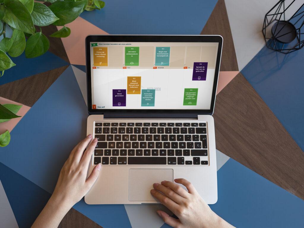 Optimaal Digitaal online op een laptop te zien