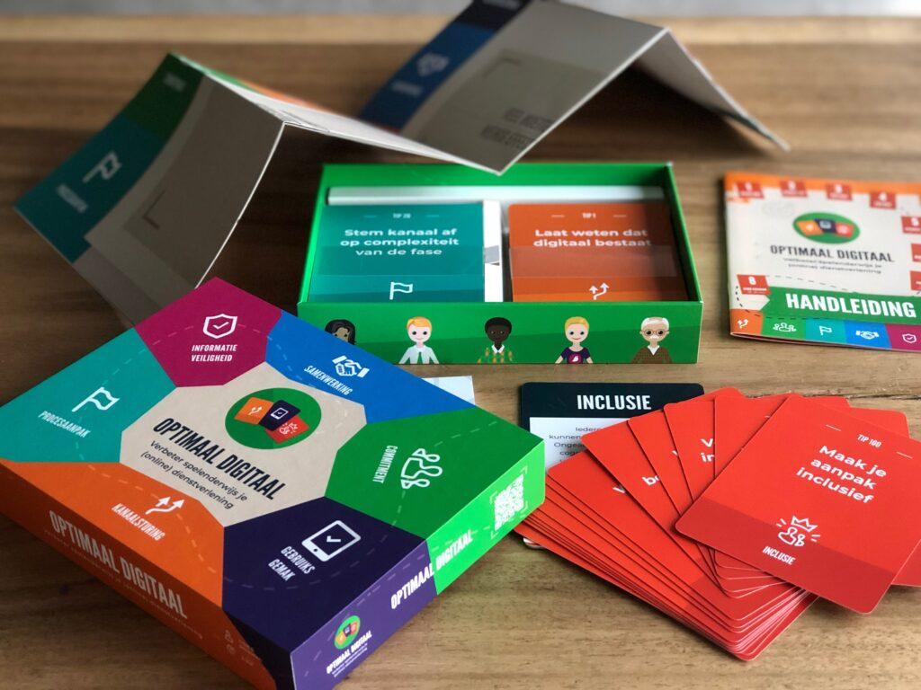 Doosje en inhoud Optimaal Digitaal bordspel
