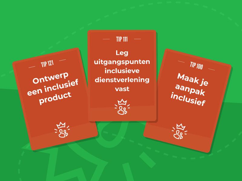 Voorbeeld van 3 tipkaarten