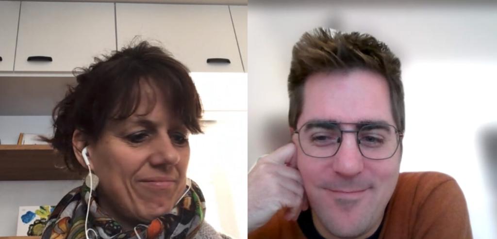 Deelnemers Anita en Tom bij de online spelleidertraining Optimaal Digitaal