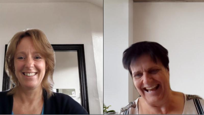Deelnemers online training OD-spel: Miriam van Heusden en Marina de Horn