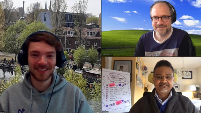Deelnemers Optimaal Digitaal online training 26-05-2021: Leon de Brouwer, Paul van Buuren, Andy Joghi